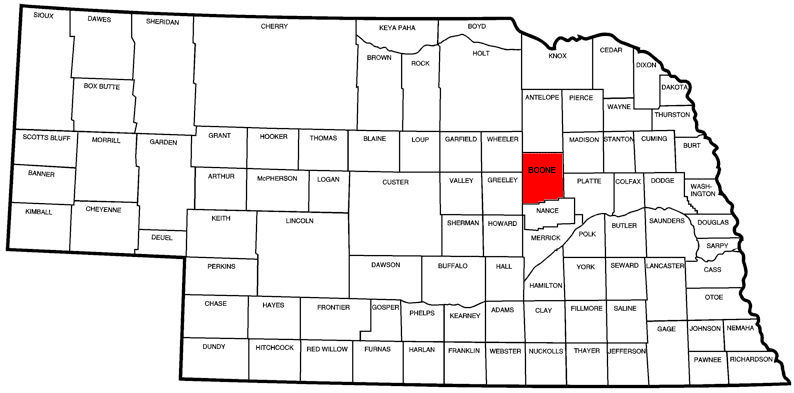 Boone County, NE Map
