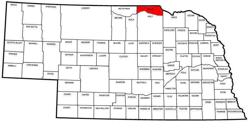 Boyd County, NE Map