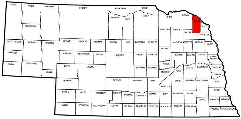 Dixon County, NE Map