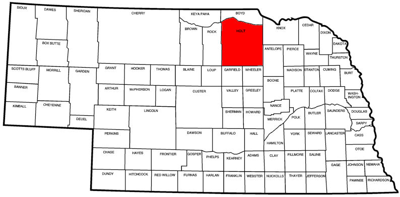 Holt County, NE Map
