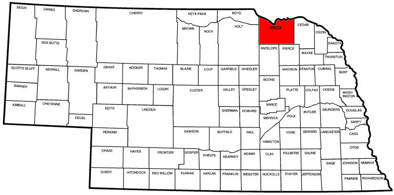 Knox County, NE Map